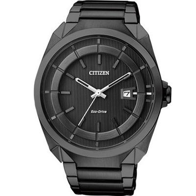 CITIZEN 光動能沉穩博雅時尚腕錶(AW1015-53E)-黑色/42mm