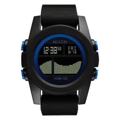 NIXON Unit Tide 飆悍美式軍風運動腕錶-藍框黑/43mm