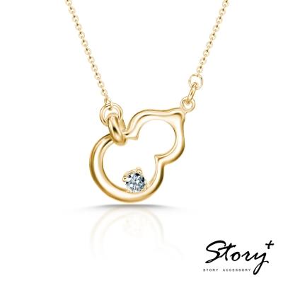STORY故事銀飾-葫蘆 純銀項鍊(黃K金)