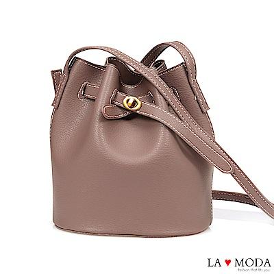 La Moda 輕鬆出遊去~小巧束口肩背斜背水桶包