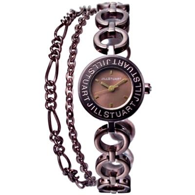 JILL STUART Bracelet Logo手鍊腕錶-深咖啡/20mm