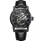 epos Sophistiquee 阿波羅雙面鏤空機械腕錶-IP黑/41mm