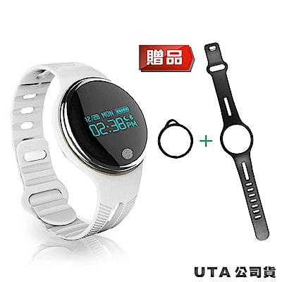 【長江】圓款Uta觸控運動防水手環E07(再送黑色腕帶)