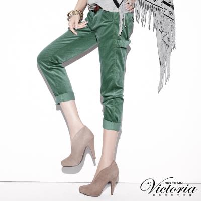 Victoria 燈芯絨B.F褲-女-淡竹綠