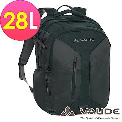 【ATUNAS 歐都納】德國VAUDE-28L旅行休閒電腦背包VA-11991墨黑15