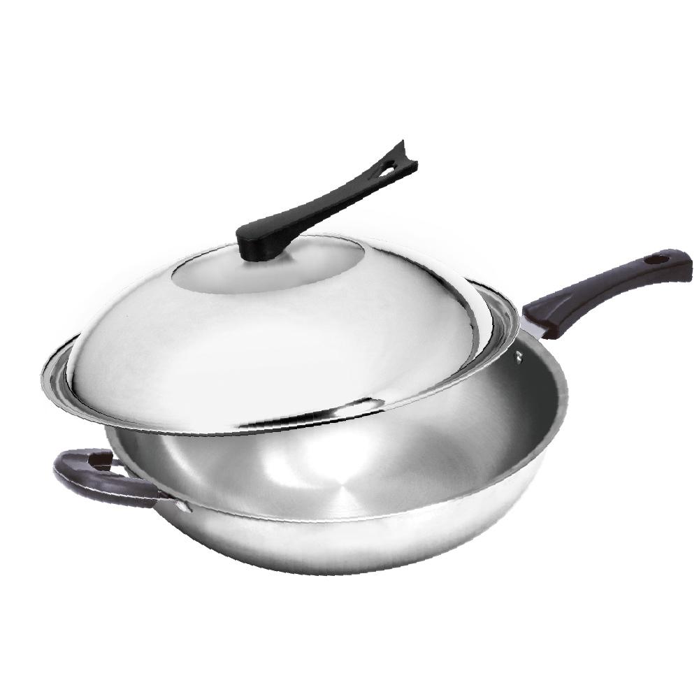 頂尖廚師Top Chef 經典316不鏽鋼複合金炒鍋 38公分