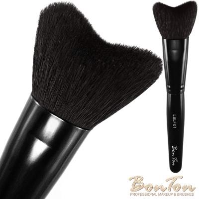 BonTon 墨黑系列 M形修容刷 LBLF01頂級光峰羊毛