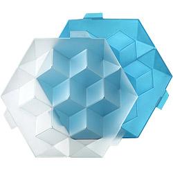 LEKUE 方磚製冰盒(藍L)