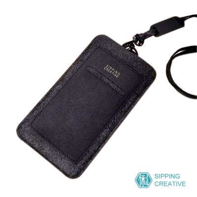 俬品創意 - 設計款紙革直式手機套附頸繩 (適用5.5吋)
