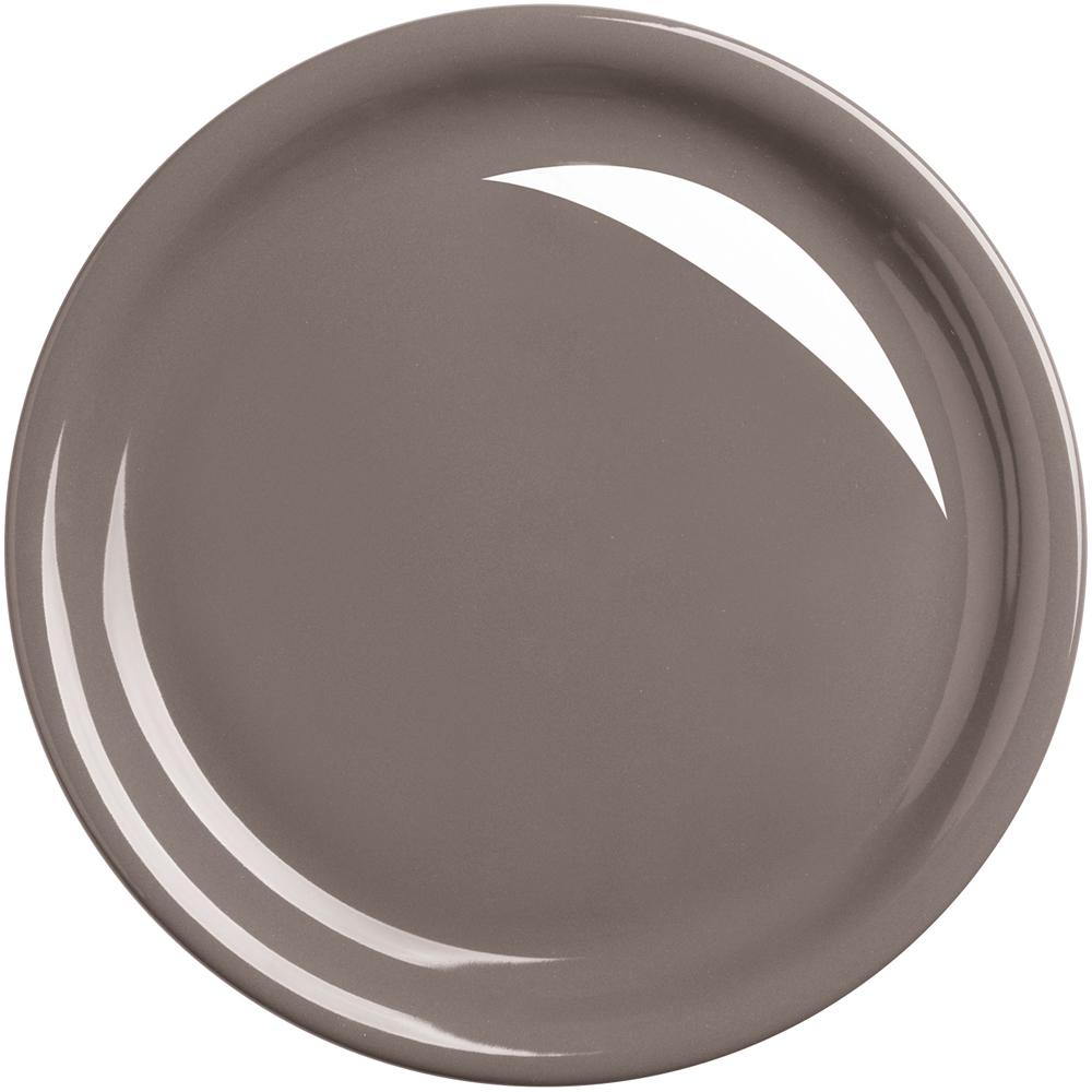 EXCELSA Fashion陶製淺餐盤(深褐26.5cm)