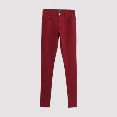 Hang-Ten-女裝-彈性修身美型窄管褲-紅