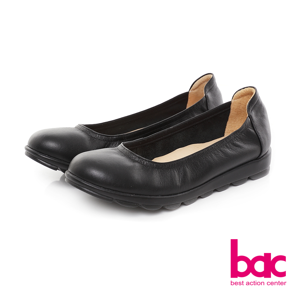 bac甜美履行-柔美色調圓頭舒適鞋-黑