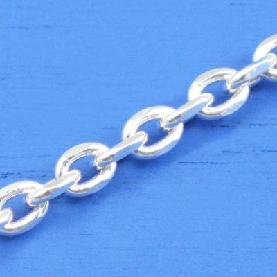 維克維娜 20吋純銀粗款-個性長圈鍊。義大利925純銀單鍊