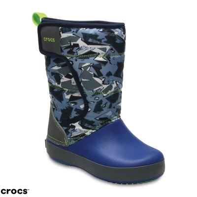 Crocs-卡駱馳-童鞋-兒童圖案雪地洛基靴-20