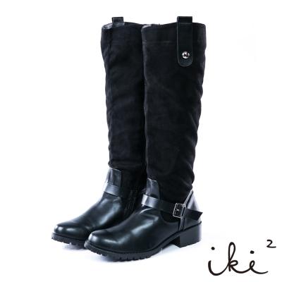 iki2成熟女伶個性時尚長靴-黑
