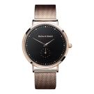 Barbas&Zacari 澳大利亞精品手錶 千年系列玫瑰金色金屬錶帶/錶框 黑錶盤43mm