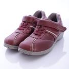 日本DUNLOP機能健走鞋-4E寬楦007PR紅-女段