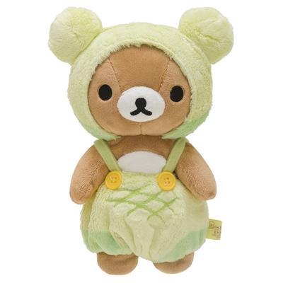 拉拉熊幸福麵包店系列毛絨公仔。哈密瓜懶熊
