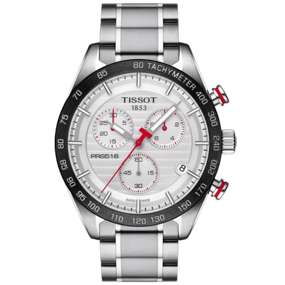 TISSOT PRS 516 賽車元素計時腕錶(T1004171103100)-42mm