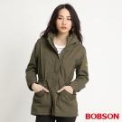 BOBSON 女款軍風長版外套(軍綠41)
