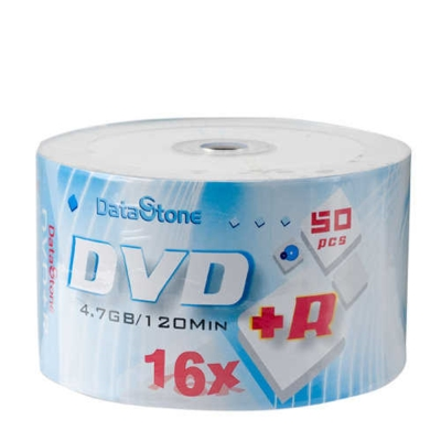 DataStone-時尚白-A-Plus級DVD-R-16X-300片