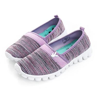 PLAYBOY 經典節奏 輕量針織布懶人鞋-紫(女)