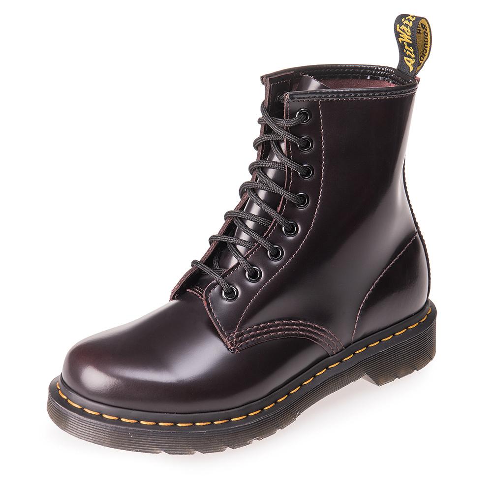 Dr.Martens-經典1460W 8孔亮面馬汀靴-女款-櫻桃紅