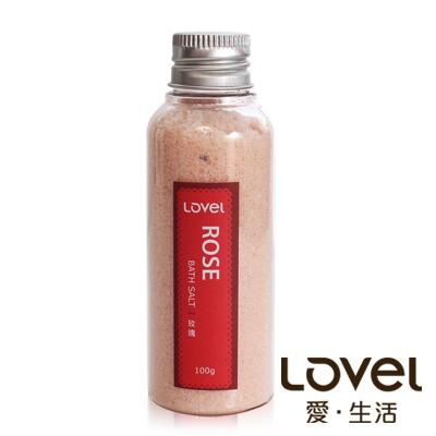 Lovel 天然井鹽/香氛沐浴鹽100g5入組(玫瑰)