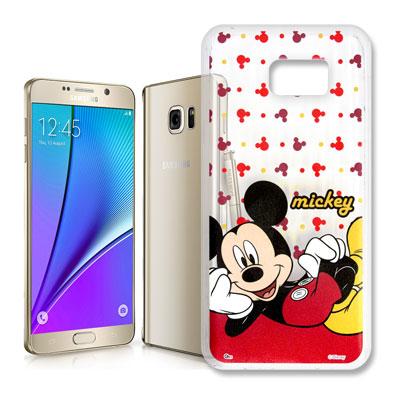 迪士尼授權 Samsung Galaxy Note5 透明軟式手機殼(悠閒米奇)