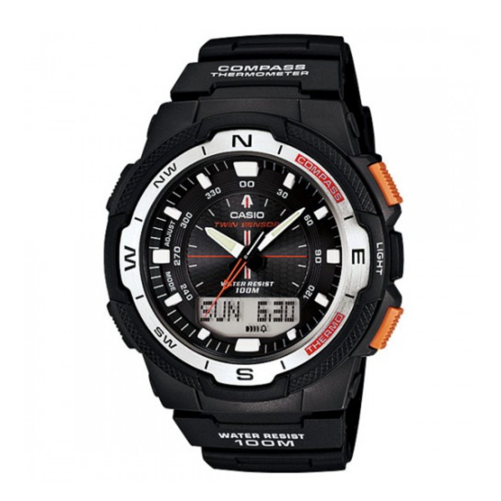 CASIO 簡易輕巧戶外健行運動雙顯錶(SGW-500H-1B)-黑/45mm