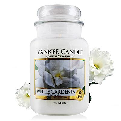 YANKEE CANDLE香氛蠟燭-白色梔子花623g