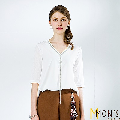 MONS 裝飾鍊領長版上衣