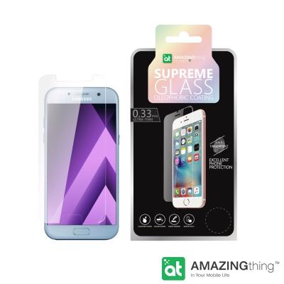 AmazingThing 三星 Galaxy A7-2017 高透光強化玻璃保護...