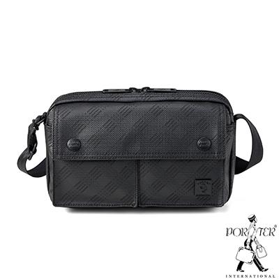 PORTER - 低調品格HUB小型時尚斜背包 - 黑