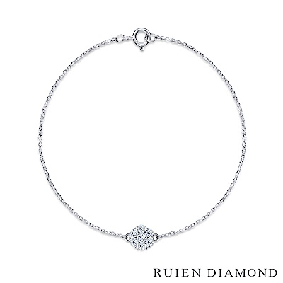 RUIEN DIAMOND 輕珠寶系列 19 分  14 K白金 鑽石手鍊