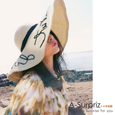A-Surpriz DO NOT DISTURB亮片大草帽((米)