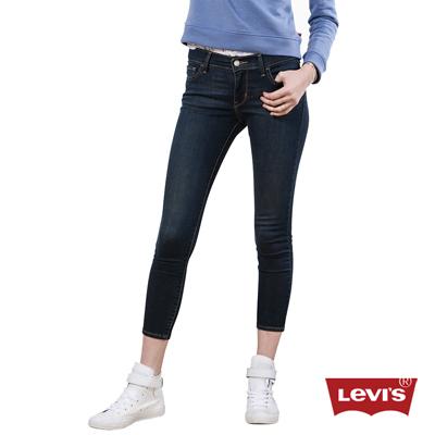 Levis-710-經典藍黑超緊身窄管丹寧牛仔褲
