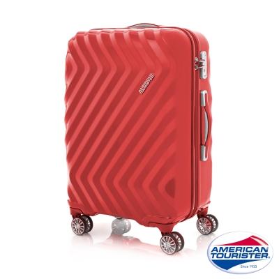 AT美國旅行者-24吋四輪飛機輪硬殼TSA行李箱紅