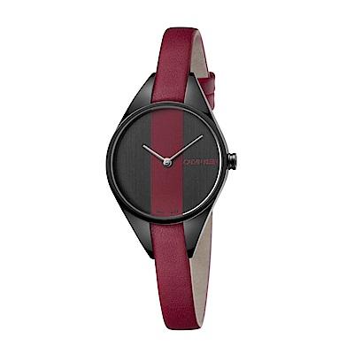 CK CALVIN KLEIN Rebel 系列 叛逆系列紅黑撞色款手錶