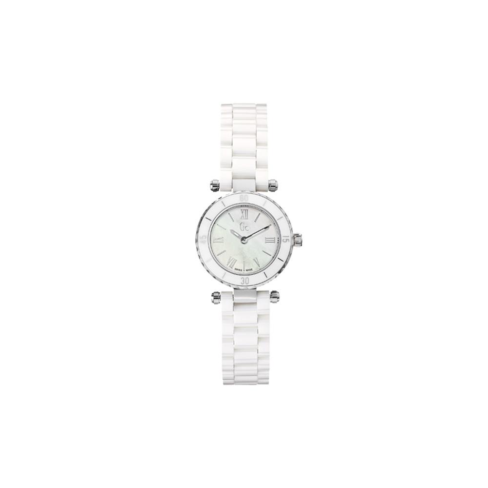 Gc 高貴淑女魅力陶瓷腕錶-銀白/28mm