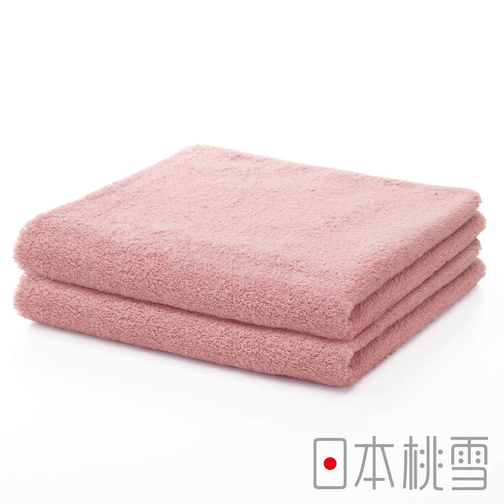 日本桃雪精梳棉飯店毛巾超值兩件組(嫩桃)