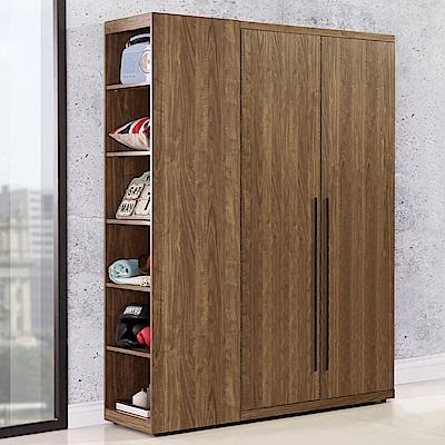 Homelike 米卡3.7尺衣櫃(胡桃木紋)-110x57x202cm