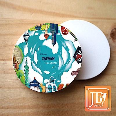 JB Design_就是愛台灣杯墊圓磁鐵-405_樂台灣