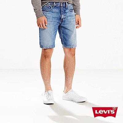 牛仔短褲 男裝 502 中腰錐形褲 刷白 - Levis