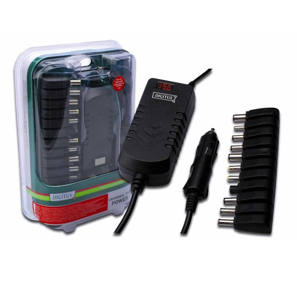 曜兆DIGITUS通用平板USB充電孔加車充雪茄型接頭90W筆電變壓器(平板筆電雙充電)