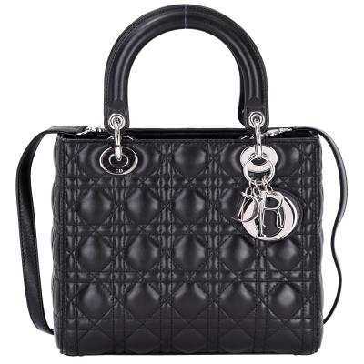 DIOR-Lady-Dior-小羊皮-黛妃包-黑