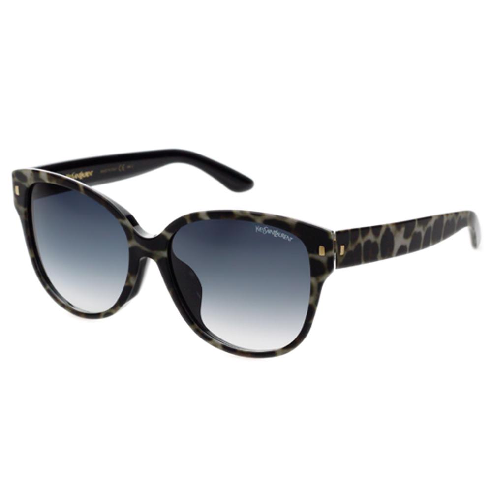 YSL-時尚太陽眼鏡 (豹紋/黑色)