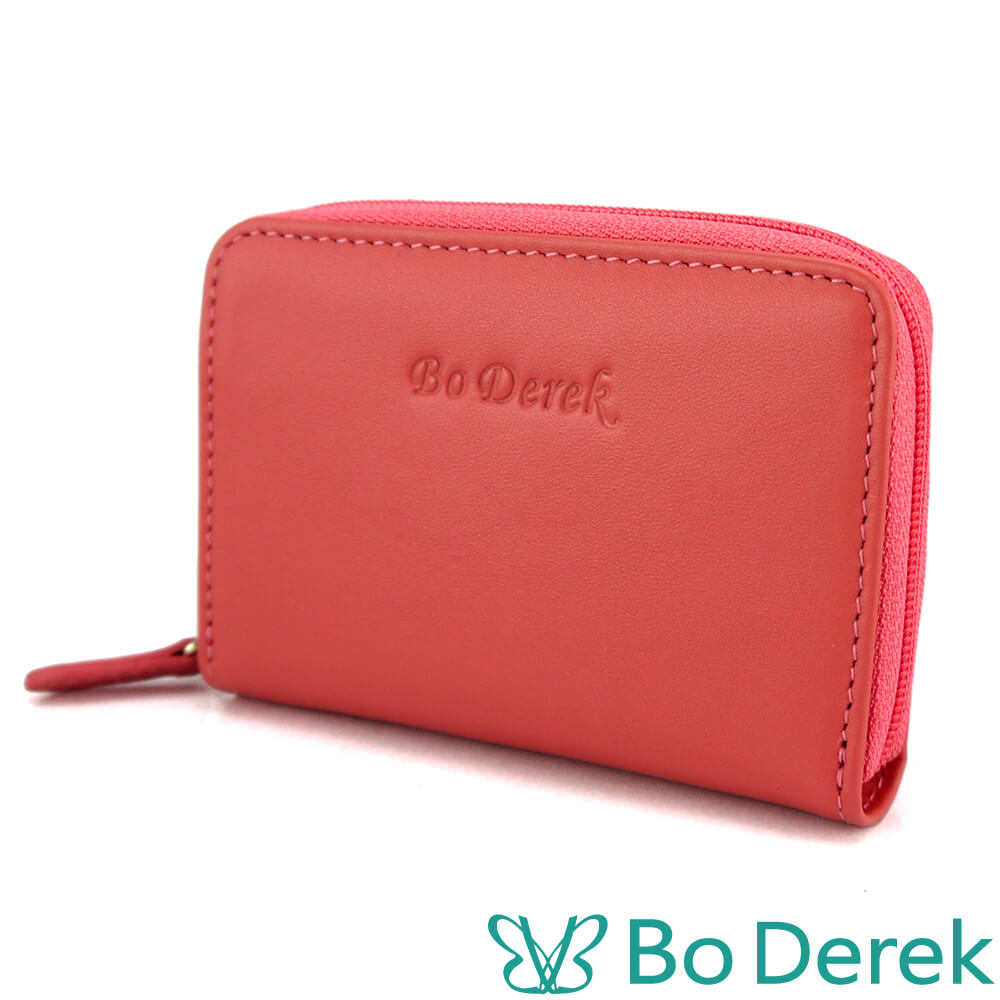 Bo Derek小牛皮風琴卡片包-粉色