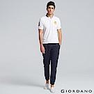 GIORDANO 男裝純棉鬆緊腰抽繩卡其束口褲-66 標誌海軍藍