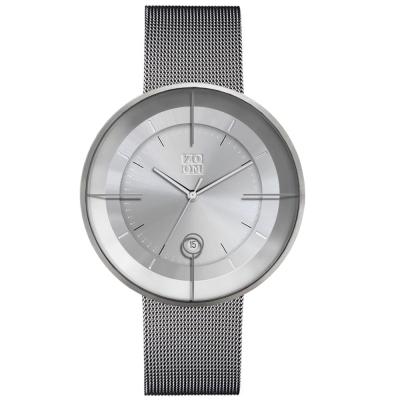 ZOOM FLOATING 光燦美學米蘭腕錶-銀/42.5mm